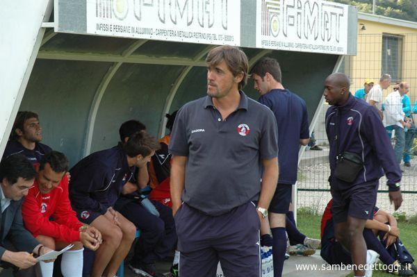Alessandro Calori allo stadio Comunale di Pieve Santo Stefano